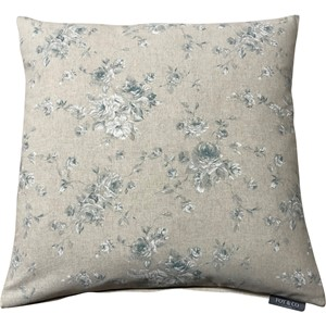 Zen Rose Kingfisher Cushion