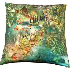 Flamingo Garden Cushion