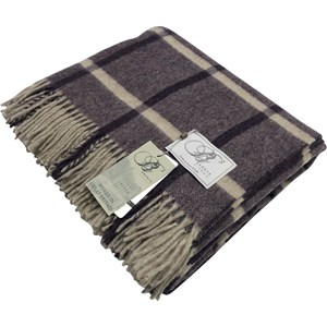 Bronte by Moon Lilac Herringbone Check Throw