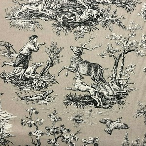French Hunting Toile | Beige